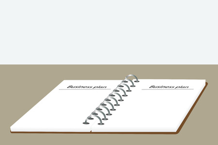 foglio a righe: Grafico illustrazione di carta governato in spirale vincolati notebook Vettoriali