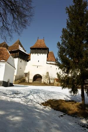 Viscri, Romania - March 05, 2011 - Fortified Evangelic church from Viscri village, Romania