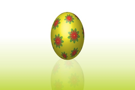 Graphic illustration of painted easter egg Stock Vector - 9128130