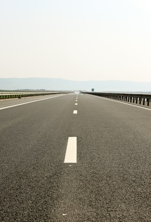 Day scene with empty high way photo