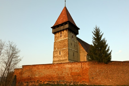 Fortified church from Brateiu, the first dated in the fourteenth century photo