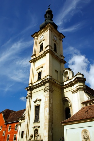 franciscan: Franciscan  church from Cluj Napoca city.