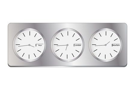 timekeeper: Graphic illustration of clock isolated on white background