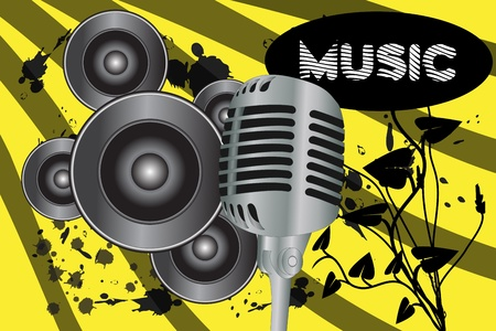 Graphic illustration of grunge music background    Stock Vector - 10038066