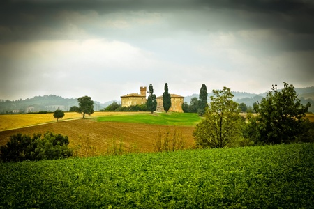 Summer rural landscape from Emilia Romagna, Italy