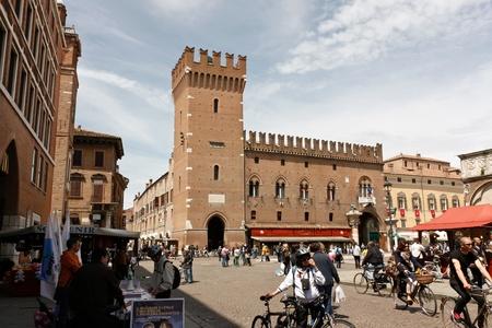 Ferrara, Italy - May 16, 2010 - Very old fortress in Ferrara, Italy  Editorial