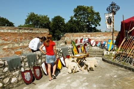 strategically: Brasov, Romania - August 06, 2011 - Preparations for medieval festival in Brasov Editorial