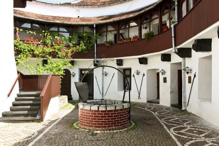 part prison: Brasov, Romania - August 06, 2011 - Internal yard of Brasov fortress Editorial