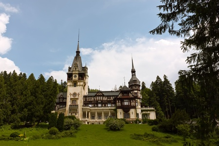 Sinaia, Romania - June 28, 2009 - Peles Castle, Sinaia, the former kingdom residence in Romania Stock Photo - 10230332