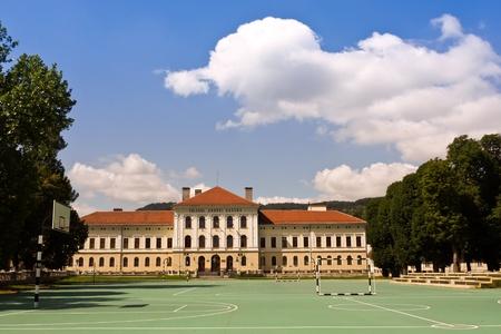 Brasov, Romania - August 13, 2011 - Andrei Saguna high school from Brasov, Romania Editorial