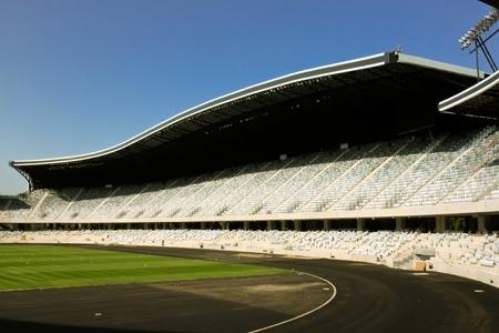 Cluj-Napoca, Romania - August 24, 2011 - View of tribune from Arena stadium from Cluj-Napoca