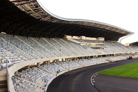 Cluj-Napoca, Romania - August 24, 2011 - Scene of  Arena stadium from Cluj-Napoca