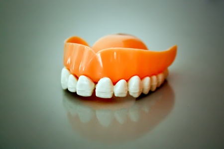 Ceramic model of dental prosthesis Stock Photo