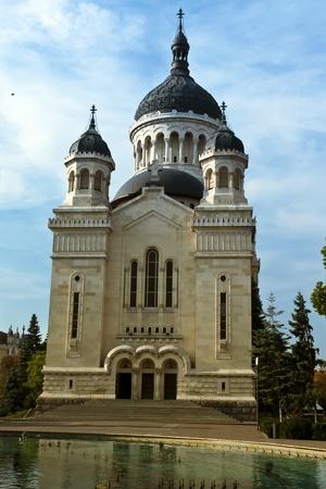 cluj: Cluj-Napoca, Romania - September 18, 2011 - The Orthodox cathedral from Cluj- Napoca, Romania