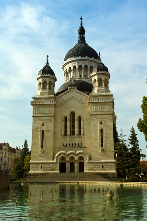napoca: Cluj-Napoca, Romania - September 18, 2011 - The Orthodox cathedral from Cluj- Napoca