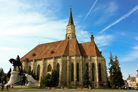 Cluj-Napoca, Romania - September 19, 2011 - Catholic church from Cluj Napoca    Stock Photo - 10753215