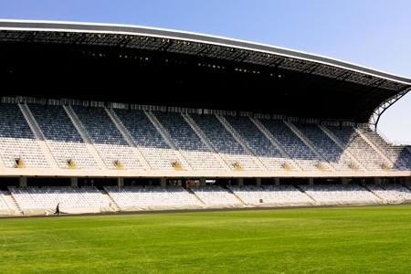 Cluj-Napoca, Romania - September 25, 2011 - Panoramic view of Arena stadium from Cluj-Napoca