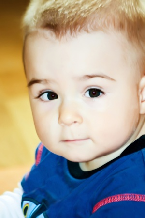 Close up portrait of a lovely little boy Stock Photo - 11130923