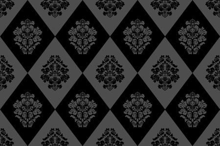 Graphic illustration of seamless damask wallpaper Vector
