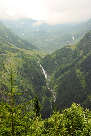 proxy falls: Waterfall in the forest in Transfagarasan, Romania