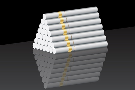 depravity: Graphic illustration of a cigarette pyramid Illustration