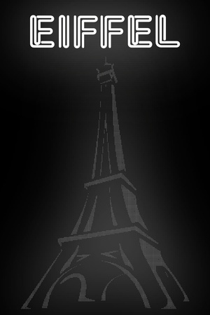 Graphic illustration of Eiffel tower