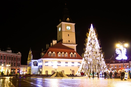 Brasov, Romania - December 13, 2011 - Brasov city story, prepared for the celebration