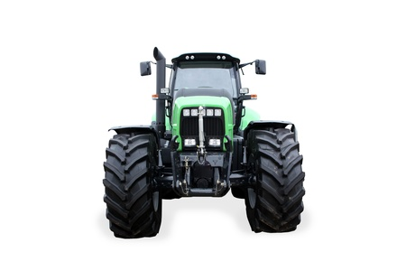 Frontal scene with a new tractor isolated on white background   Stock Photo - 11763927