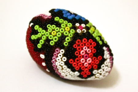 Easter egg with beadwork on top Stock Photo - 11763945