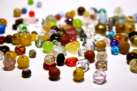 Multicolored jewel stones over white background Stock Photo - 11877006