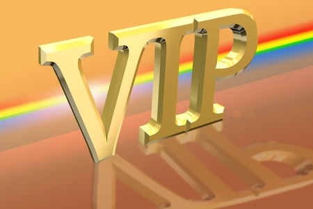 VIP or Very Important Person letter illustration over spectral background illustration