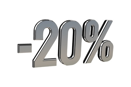 Percentage as symbol of shopping discounts up to 20 Stock Photo - 12026026