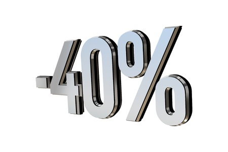 Percentage as symbol of shopping discounts up to 40 Stock Photo - 12026030