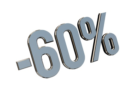 Percentage as symbol of shopping discounts up to 60 Stock Photo - 12026029