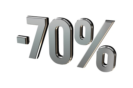 Percentage as symbol of shopping discounts up to 70 Stock Photo - 12026027