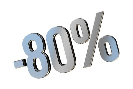 Percentage as symbol of shopping discounts up to 80 Stock Photo - 12026031