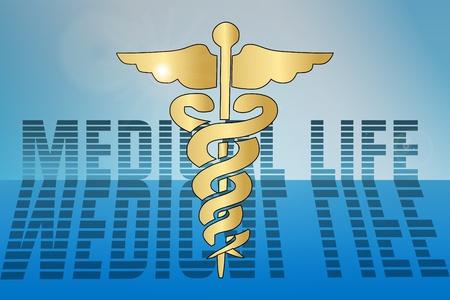 3d render of medical sign over blue background Stock Vector - 12026034