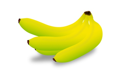 Graphic illustration of banana isolated on white background Vector
