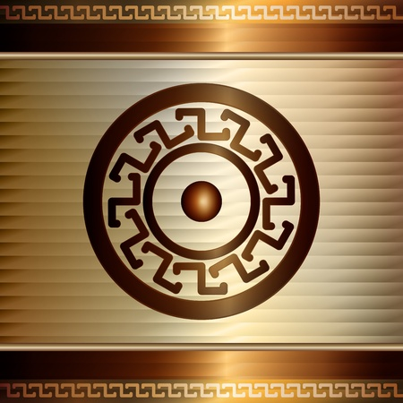 Graphic illustration of technology background with decorative elements over Vector