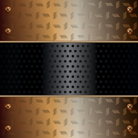 Graphic illustration of technology background with metallic components Vector