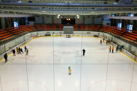 Brasov, Romania - 28.02.2012 - The official view of the lodge from his youth ice hockey