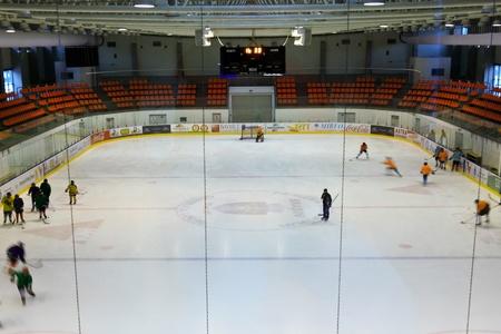 Brasov, Romania - 28.02.2012 - Olympic Indoor skating stadium from Brasov, Romania