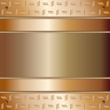 Graphic illustration of technology background with golden plates Vector