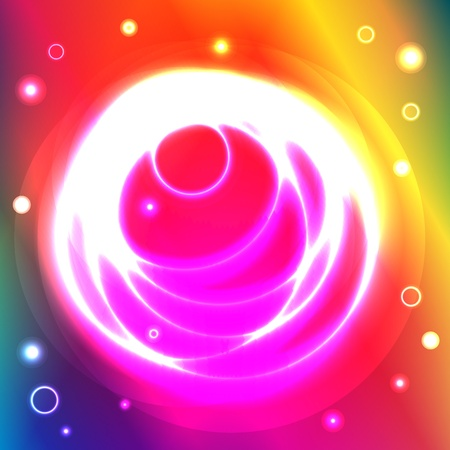 spectral: Graphic illustration of magic circles over spectral background Illustration