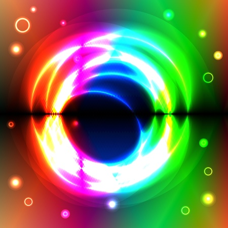 spectral: Graphic illustration of magic forms over spectral background Illustration