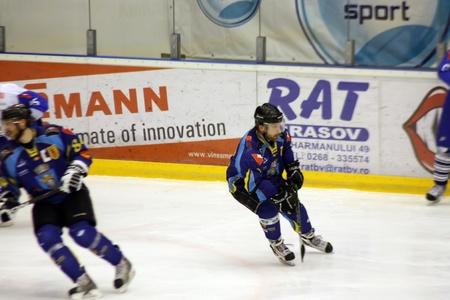 Brasov, Romania - 28.03.2012 - Attack scene with hockey players Stock Photo - 12877494