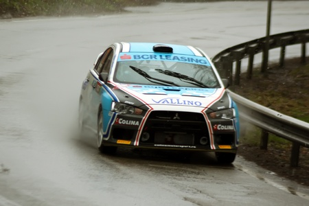 Brasov, Romania - 30.03.2012 - Rainny day at Brasov rally championship