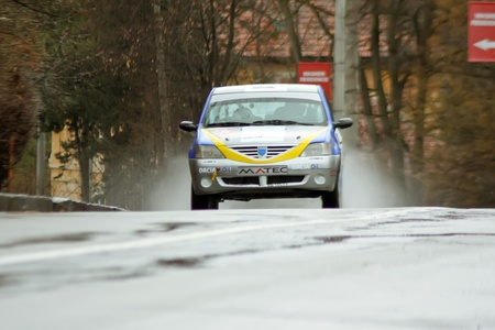 brasov: Brasov, Romania - 30.03.2012 - First day of competition at Brasov rally Editorial