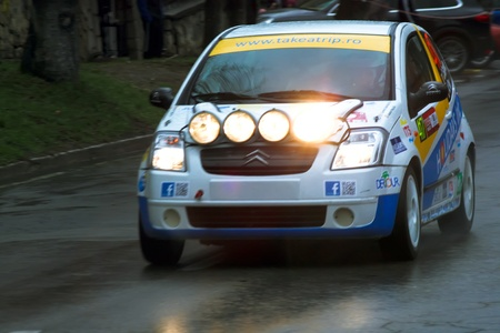 brasov: Brasov, Romania - 30.03.2012 - Rainy day at Brasov rally championship