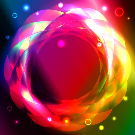 Graphic illustration of magic circles over spectral background Stock Vector - 13098366